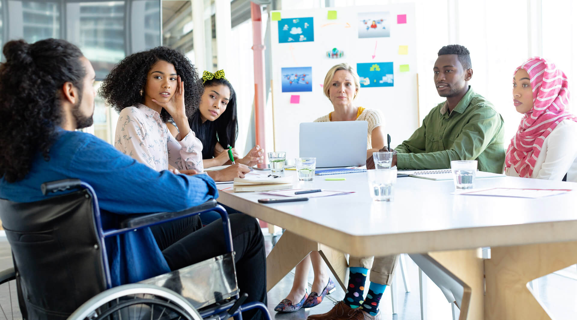 Group of Mixed Ability People in a Meeting