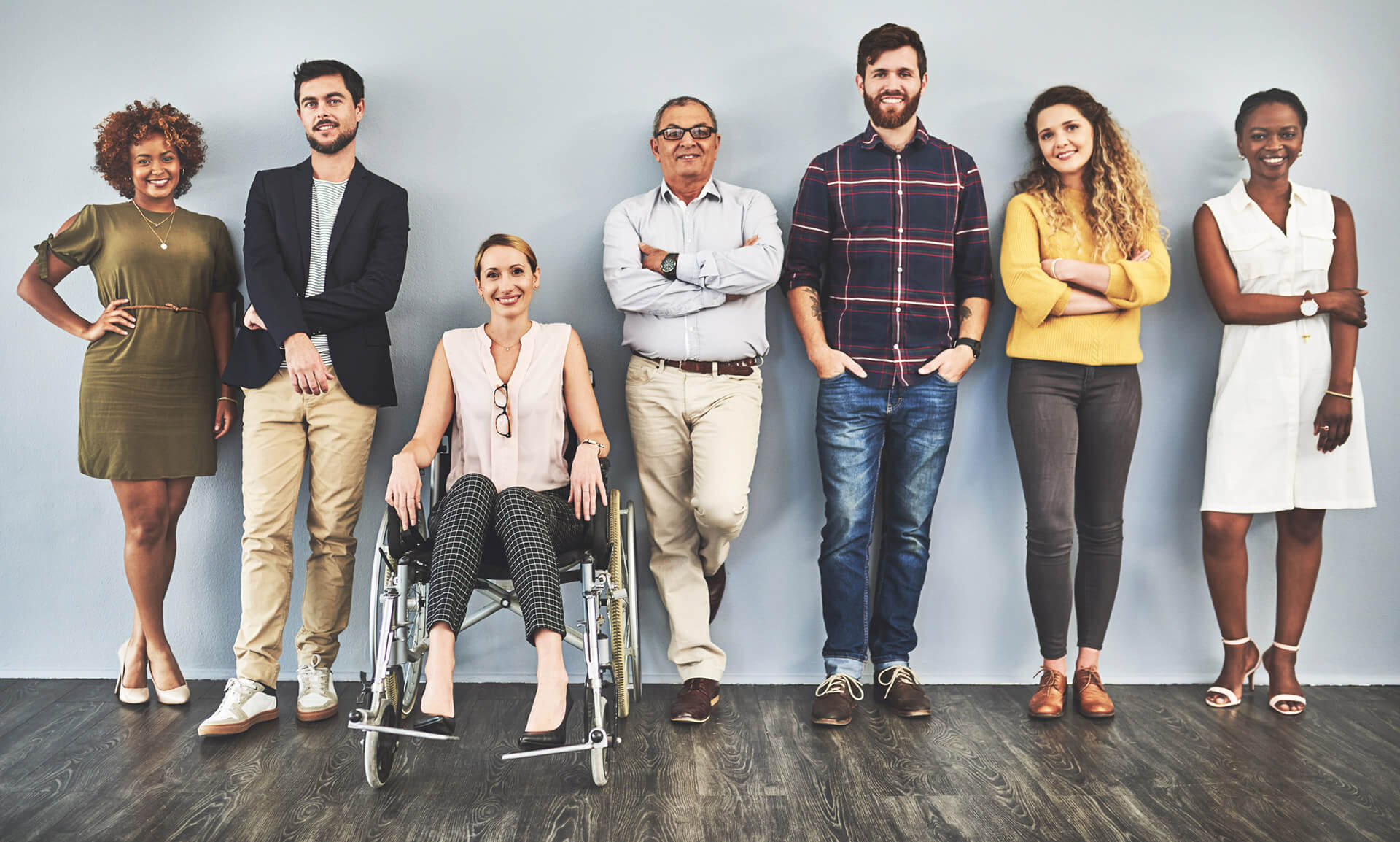 Representative image of mixed ability people